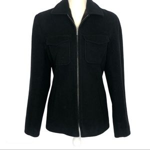 J Crew Wool Blend Full Zip Jacket Coat